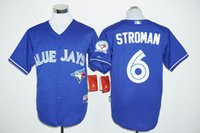 Wholesale 2016 New Toronto Blue Jays Baseball Jerseys Kevin Pillar Jose Bautista Josh Donaldson Russell Martin th Anniversary mix order
