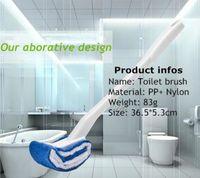 Wholesale 2016 New design Japan Toilet Brusher With holder Hanging Bathroom Toilet Brushes Toilet cleaner tool