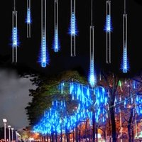 Wholesale IMPopular cm tube Meteor Shower Rain Tubes Outdoor Holiday Light New Year Decoration Christmas Lights Led Striing