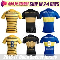 Wholesale Juniors jersey Bocaes Juniors third black CARLITOS Soccer Jersey Boca football shirts PEREZ P GAGO camiseta de futbol uniform