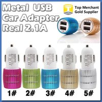 amp output - Metal LED Dual USB Port Car Charger Adapter Output Real Amp AMP for iPhone s iPad iPod S7 Edge