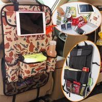 Wholesale Car Organizer Multi functional Storage Bags car seat covers Seat Back Protector Children Kick Mats ipid travel Storage holder