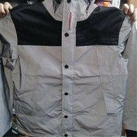 Wholesale M Reflective Man streetwear hoodie windbreaker Jacket Men Outdoor Waterproof Windproof coat