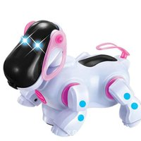 amazing pets - Amazing Robot Dog Lovely Music Shine Intelligent Electronic Robot Walking Dog Puppy Action Toy Pet Kids Baby with Music Light