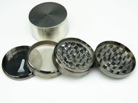 Wholesale Hot New PC Part mm Big Metal Herb Grinder for Tobacco Pepper Hand Grinding Smoking pipe Grinder Mill Crusher