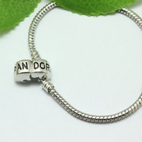 925 sterling silver wire - 925 Sterling silver cm Barrel Clasp Fit European Beads For Pandora Bracelet Snake Chain Bracelets Designer Jewelry DIY Accessories