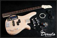 bass guitar kits - DIY Electric Bass Guitar Kit Bolt On Solid Mahogany Body MX