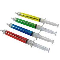Wholesale 5PCS Syringe Pen Injection Needle Tube Ball Point Pen Doctor Nurse Fun Random Color