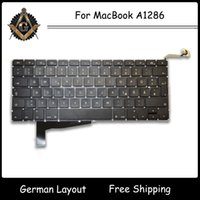 Wholesale Genuine GR DE German Deutsch QWERTZ Tastatur Keyboard with Backlight for MacBook Pro quot A1286 Keyboard NEW