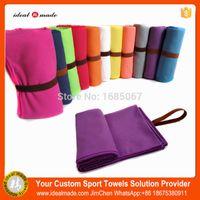 best yoga towel - Best seller Bikram Logo embroidery high absorbent suede microfiber yoga towel blanket
