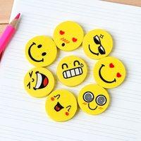 Wholesale smiley eraser material escolar kawaii erasers school supplies papelaria borracha escolar gomas de borrar gomme silgi borrachas