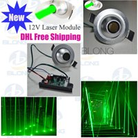 Wholesale 12V green mw Laser Module Stage Lighting Accessories Spot Laser Module Laser Thick Laser Column Longtime life Low comsuption