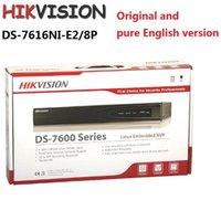 Precio de Tercero-HIKVISION NVR Mejor grabadora de vídeo en red Salida HDMI y VGA Cámaras de red de terceros compatibles DS-7616NI-E2 / 8P