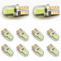 T10 auto wedge - 10pcs T10 W5W COB SMD LED Silicon Car Auto Wedge Side Marker License Light Lamp Bulb