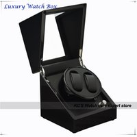 Wholesale Quality Black Piano Paint Double Automatic Watch Winder and Storage Box Case for Best Christmas Birthday Gift GC03 S33BB