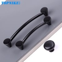 Wholesale Modern black solid circular single American handle furniture handle cabinet drawer handle direct