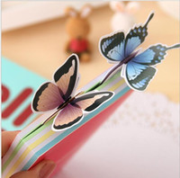 Wholesale Butterfly shape paper Bookmark Product Type and Letters Theme chinese bookmarks student gift decoration bookmark