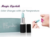 Wholesale Vifunsion Magic Matte Cute Lipstick Lip Gloss Makeup Blue Color Turns to Red with Temperature Changes Waterproof Long Lasting Lipstick