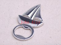 aluminum boat accessories - New Silver Sailing Boat Bottle Opener Beer Openers Bar Tools Party Accessories Wine stopper Wedding Favors Party Home Cooking