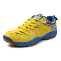 anti slippery floor - High Quality Men Leather Lace up Anti slippery Concrete Floor Cow Muscle Badminton Shoes Sneakers