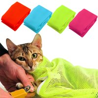 Wholesale 2016 NEW Nylon Mesh Pet Cat Grooming Restraint Bag for Bath Nails Cutting Cleaning