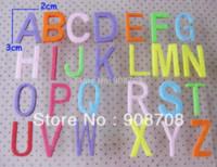 alphabet decorative letters - PH015 Decorative Flower Patch Alphabet Shape Felt Appliques ABC letters Mixed M62787 decorate flowers decoration for flower