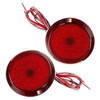 auto lamps toyota corolla - 2x Red LED Rear Bumper Reflector Light Auto Round Reflective Brake Stop Lamp Car Light Source for Toyota Qashqai Corolla X Trail