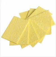 Wholesale 10pcs cm High Temperature Resistant Heatstable Soldering Iron Solder Tip Welding Cleaning Sponge Remove Tin Yellow
