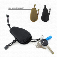 Wholesale EDC Mini Key Wallets Luxury Brand Men Women Car Keys Holder Purses Pouch Military Camouflage Bag Pocket Keychain Zipper Case