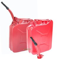Wholesale Four RED Military Style Storage Can Gallon Jerry Can Vent tube inside Gas Fuel Steel Tank