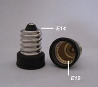 Nickle Plated Brass E14-E12 CCC E14 to E12 Lamp Holder Adapter Socket Converter Light Base Changer CE 20pcs