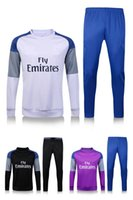 Wholesale Top quality Madrid Soccer training suit RONALDO Football tracksuit BALE BENZEMA MARCELO MODRIC SERGIO RAMOS Soccer Wear rugby
