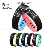 beautiful monitor - 2016 new fashion beautiful gift B17 Smart Bracelet health monitor sleep pedometer Bluetooth Bracelet watch Apr21