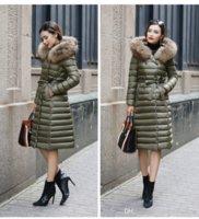 Wholesale 2017 New Fashion Top Quality X long Duck Down Coat Slim Thick Fur Plus Size Women Down Jacket Winter Coat Parka Women Jackets FS0744