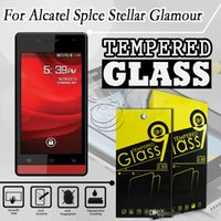 alcatel mobile accessories - Tempered Glass Screen Protector For Alcatel Stellar TRU Mobile Phone Accessories POP4 FIERCE with packing