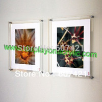 Wholesale Unit Wall Mounted A4 Acrylic Plexiglass Poster Frames Perspex Floating Frames