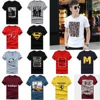 Wholesale 2016 New Summer Men s T shirt Men s Crew Neck Short sleeved T shirt Printing patterns No fading no deformation Cotton