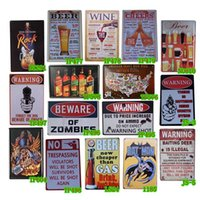Wholesale Characteristic Cartoon And Warning Metal Tin Signs Decor Shop Pub Bar Home Wall Retro Cafe Art