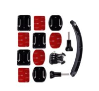 adhesive photo mounts - Helmet Extension Arm Kit Self Photo Flat Curved Adhesive Mount For Gopro Camera Hero Sjcam Sj4000 Sj5000 Accessories