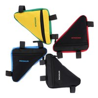 Wholesale New Waterproof Triangle Cycling Bicycle Bags Front Tube Frame Bag Mountain Triangle Bike Pouch Holder Saddle Bag Colors