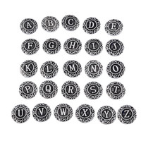 beauty letters - New2016 Fashion KZ1152 Beauty A Z Alphabet Letters MM ginger snap buttons for DIY ginger snap bracelets Accessories charm jewelry