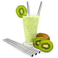 Wholesale Fashion Hot straight Durable Stainless Steel Drinking Straw Straws Metal for Bar Family kitchen