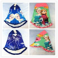 Wholesale 2015 Novelty Carton Frozenned Princess Elsa Anna Olaf Kid s Muslim Hijab Islamic Head Scarf Bandana for Children Baby Girl