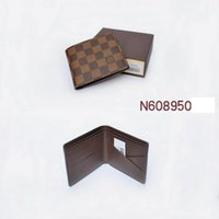 Wholesale 2016 fashion men louis wallet monogram checked brown black