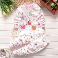 bear suit pajamas - Three Bears Printed Kids Spring T Shirt And Pant Suit Cotton Long Sleeve Pajamas for Baby Kids