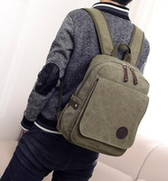 Wholesale Classic men s shoulders canvas bag computer travel recreation storage bag