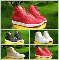 Cheap 2016 New Retro 1 Pinnacle Retros 1 Mens Basketball Shoes Black Red Sneakers Gold Dan 1 Retro Shoes White Gold Size 40-47