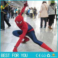 Wholesale New hot Superhero Adult Spiderman Costume Adult Halloween Cosplay Lycra Spandex Full Bodysuit Plus Size Spiderman Costume For Men