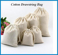 Wholesale Cotton drawstring bag Natural Cotton Laundry Favor Holder Fashion Jewelry Pouches for storing Fruits Vegetable bag005