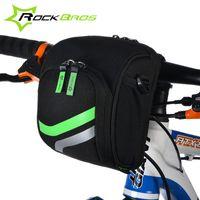 Wholesale RockBros Bicycle Bag Bike Handlebar Bag With Rain Cover Cycling Tube Bag Bike Accessories MTB Bike Folding Bike Front Bag